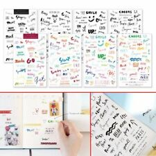 8 Sheets Simple Paper Stickers for Diary Notebook Mobile Phone Bullet Journal