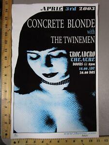 2003 Rock Roll Concert Poster Concrete Blonde Twinemen Mark Murphy SN LT-150
