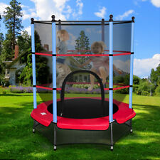 "Youth Jumping Round Trampoline 55"" Exercise W/ Safety Pad Enclosure Combo Child"