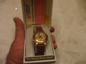 Mickey Mouse Lorus Quartz Walt Disney Melody Watch with case And paperwork