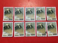 STAMP JAPAN 1000yen Fuji 10pcs high value lot off paper  philatelic collection