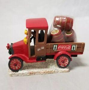 Coca-Cola Truck Figurine: Town Square Collection Model T Truck, Red Barrels 1992