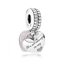 Authentic Pandora Charm Sterling Silver Mother Daughter Dangle Bead 792072EN40