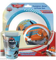 Disney Planes Children Kids Dinner Breakfast Tumbler, Bowl and Plate Set New