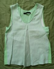 Zara Women's Green Faux Leather Top Size XS Good Used Condition