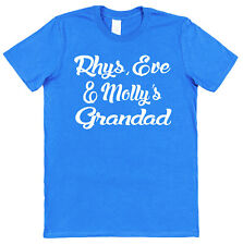 Personalised Kid's Names Grandad T-Shirt Gift Any Names Grandchildren Father