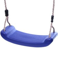 Rebo Replacement Childrens Moulded Plastic Kids Single Swing Seat - Blue