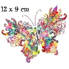 Patch Applique, Dessin Transfert thermocollant, PAPILLON Multicolore - T157