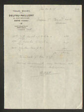 "SENS (89) BACHES & TOILES ""DELFAU & PAILLERY"" en 1928"