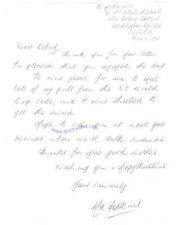 A hand written letter signed by 1958 Wales World Cup Football star Mel Hopkins