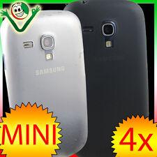 2x Pellicola+2x custodia 0,3mm sottile Nera+Bianca Samsung Galaxy S3 Mini i8190
