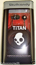 Skullcandy (Skull Candy) Titans In-Ear Buds BLACK New in Retail Pack