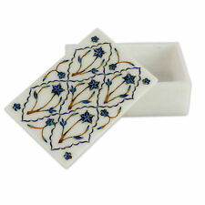 Marble Jewelry Box Pietra  Dura Art Handmade Home Decor Gifts