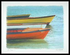 Chauve Auckenthaler Les Barques I Poster Bild Kunstdruck im Alu Rahmen 56x71cm