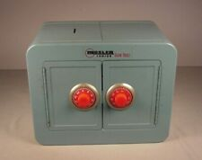 Vintage Mosler metal Coin Bank Toy Vault 1960's Safe with double doors