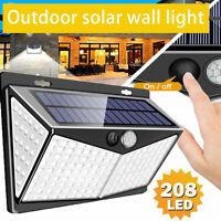 208LED Lampada Faro LED Solare Faretto Sensore Movimento Luce Esterno Giardino