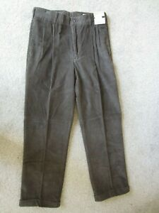 NWT Geoffrey Beene Mens Coruroy Pants Brown W32 L30