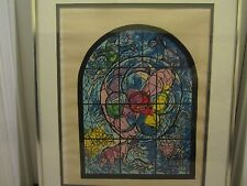 Marc Chagall (1887-1985)circa 1970's Jerusalem windows signed serigraph GC RARE!