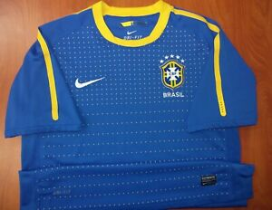 Nike Brasil National Soccer Team Dri-Fit Performance Vapor Training Jersey L