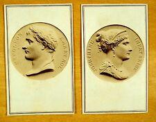 Napoleon Bonaparte & Josephine Royalty Emperor France 2 Carte de Visites 1860's