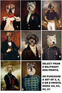 Dog Art Poster Print Wall Art Thierry Poncelet Schnauzer Army Art Military Art