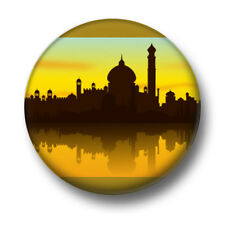 India 1 Inch / 25mm Pin Button Badge Indian Landscape Cute Earth Scenery Novelty