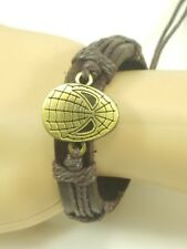 Spider Man Super Hero Leather Bracelet Adjustable Bangle Bohemia Cuff Braid USA