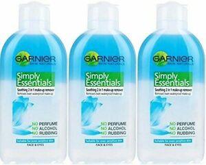 3 Pack - Garnier Simple Essentials 2 in 1 Make Up Remover 200ml