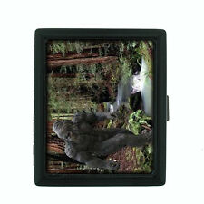 Big Foot D2 Black Cigarette Case / Metal Wallet Yeti Folklore Beast Sasquatch