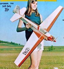 Vintage ALPAVIA RF-3 RC Powered Sailplane Model Airplane PLAN + BuildingArticle