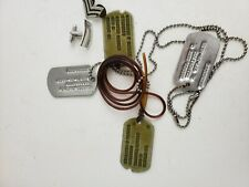 U.S. Army Post - WW2 Dog Tags and other misc. metal pins, etc.