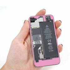 Glass Transparent Back Cover Replacement for iPhone 4 Pink Motherboard