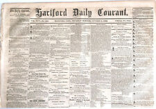CIVIL WAR HARTFORD CT, OLDEST US NEWSPAPER, BATTLE CORINTH OLD CHRISTY MINSTRELS