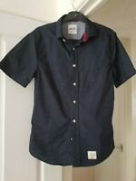 Men's SuperDry Black Spotted Shirt, Vintage, Short Sleeves, Size S, VGC