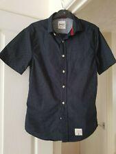 Men's SuperDry Black Spotted Shirt, Vintage, Short Sleeves, Size S, VGC