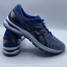 Asics Gel-Nimbus 22 Blue  Gold Men Running Shoe  SZ 14 WIDE Worn Once