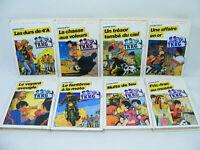 Lot de 8 livres TKKG de Stefan WOLF Bibliotheque rose 70's/80's
