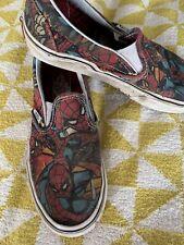 Vans Boys Marvel Spider-Man Slip Ons Size 3