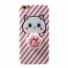 Squishy 3D teléfono TPU Panda Gato De Silicona Suave Carcasa Protectora para iPhone 6 SPlus 7 Plus
