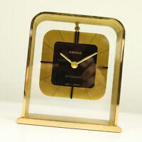 Kienzle Tisch Uhr Messing & Acrylglas Chronoquartz Germany Vintage 70er 80er