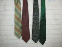 Tommy Hilfiger mens ties Lot of Ties 4Green Striped Red and Brown Classic Ties
