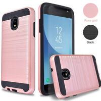 For Samsung Galaxy J7 2018 /J7 Refine Case Brushed Texture Shockproof Back Cover