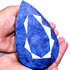 EBAY'S LARGE MUSEUM SIZE 7095 CT [CERTIFIED] TOP BLUE PEAR FACETED SAPPHIRE GEM