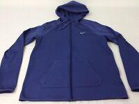 Nike Purple Blue Womens Medium Full Zip Dri Fit Hoodie Jacket Sweatshirt EUC