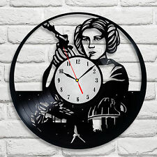 Star Wars Princess Leia design vinyl record wall clock home art kids bedroom 1