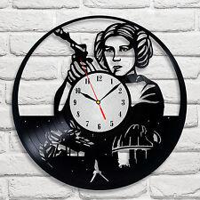 Star Wars Princess Leia design vinyl record wall clock home art kids bedroom 1