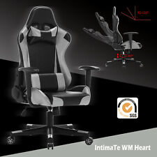 IntimaTe WM Heart Racing Gaming Computer Office Chair - Gray