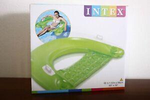 """Intex 58859 Sit 'n' Float 60"""" x 39"""" green"""
