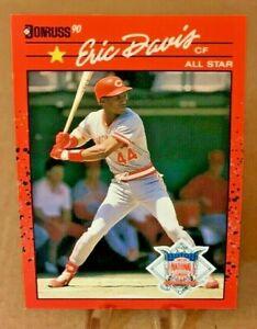 1990 Donruss ⚾ ERIC DAVIS #695 🤞 ERROR CARD 🤞,Cincinnati Reds - MINT