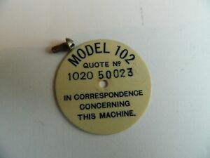 His Master's Voice Model 102 Portable Circular Gramophone  Identification Disc